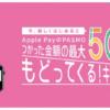 Apple PayのPASMO新規利用で最大50%還元キャンペーン